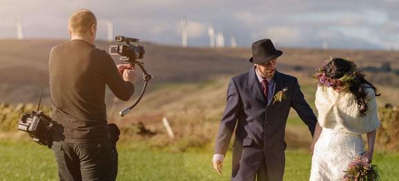 Wedding Videographer at work