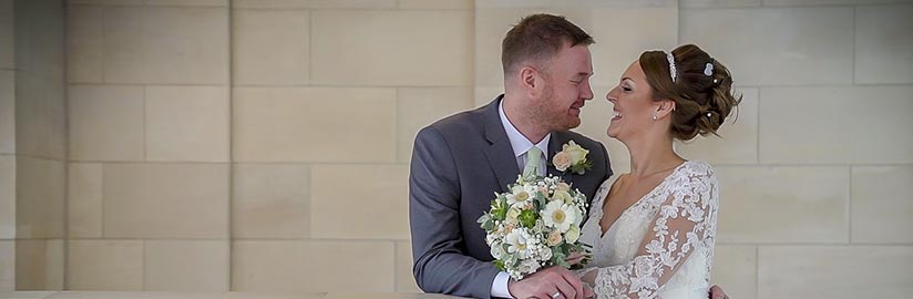 A shot from the wedding video of Victoria & Jason at Rudding Park Hotel near Harrogate
